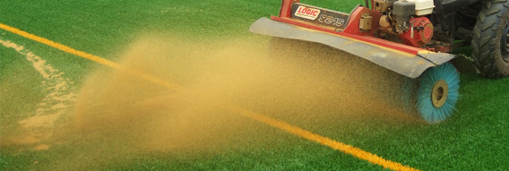 A Power-brushing procedure on an astroturf pitch
